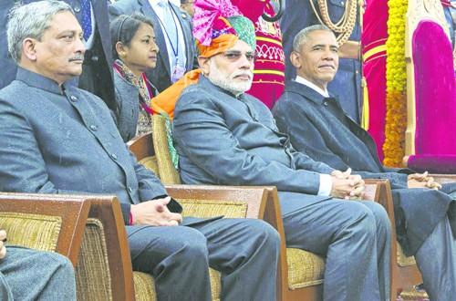 दिल्लीत ओबामांच्या उपस्थितीत प्रजासत्ताक दिन दिमाखात साजरा