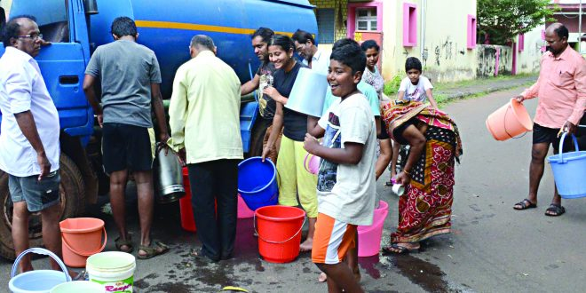 पणजी व परिसरातील नागरीक पाणी तुटवड्यामुळे हैराण