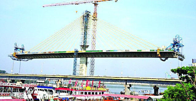 नव्या मांडवी पुलाचे ६६ टक्के काम पूर्ण