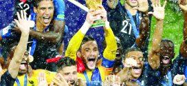 फ्रान्सची फुटबॉल जगज्जेतेपदाला गवसणी