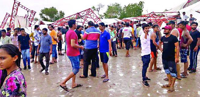 रामकथेदरम्यान मंडप कोसळून राजस्थानमध्ये १४ जणांचा मृत्यू