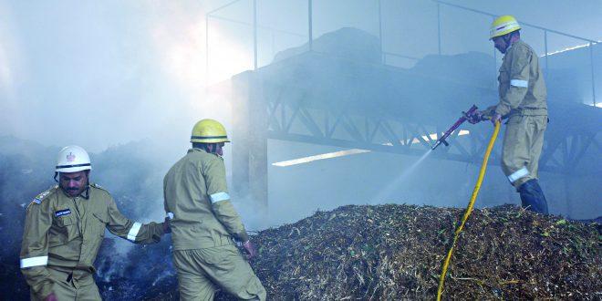 पणजीत कचरा प्रक्रिया प्रकल्पाला आग लागल्याने नुकसान